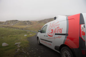 Achill Oysters van on Achill Island