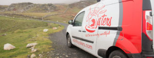 Achill Oysters van on Achill Island